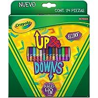 Crayola 6861960000 Lápices de Color Duales Up&Downs, 24 Piezas