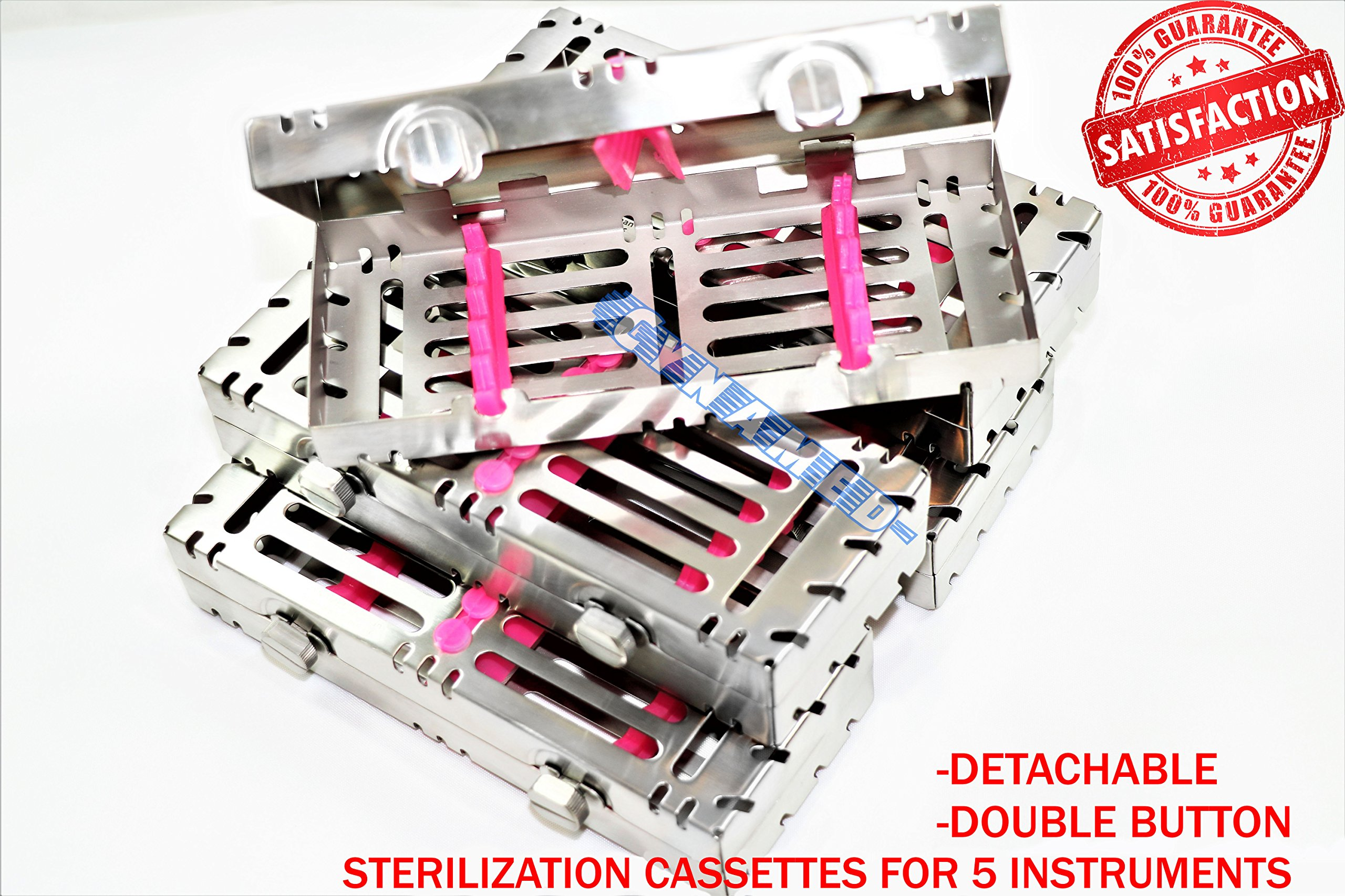 5 Slot German Sterilization Cassette for 5 Instruments Detachable with Double Button [CYNAMED]