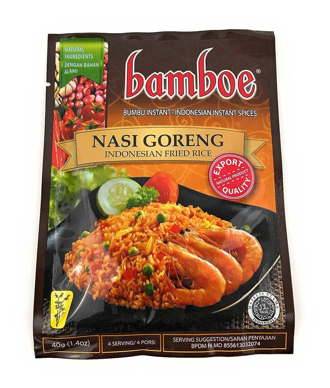 bamboe - NASI GORENG - INDONESIAN FRIED RICE - 6 x 1.4 OZ / 40 g / Product of Indonesia