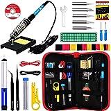 Soldering Iron Kit - Soldering Iron 60 W Adjustable Temperature, Solder Wire, Tweezers, Soldering Iron Stand, Soldering Iron