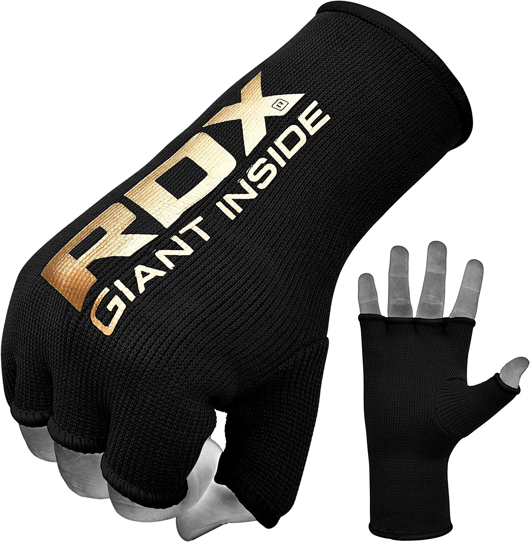 1 PAIR Half Finger Gloves Hand Wraps MMA Muay Thai Boxing Training Fighting
