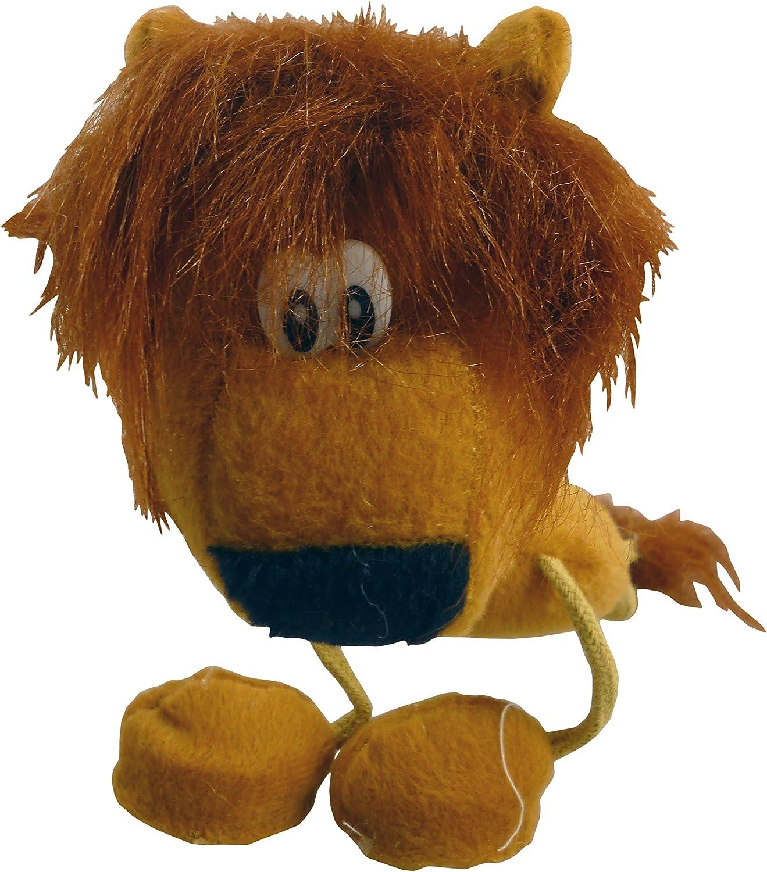 TOYLAND Marioneta de Mano del león - piernas de la Secuencia - Juguete Suave de los 25cm con la manija de Madera - Juguetes Animales
