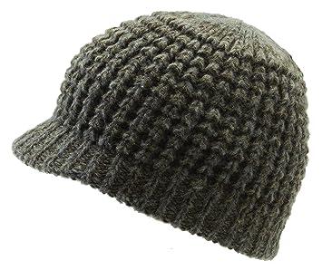 8ef9e858e56 Icebox Knitting Dohm Super Soft Woodland Winter Wool Hat Beanie Skull Cap  With Visor For Men