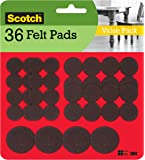 Scotch Mounting, Fastening & Surface Protection SP846 Scotch Brand 3M, for protecting hardwood floors, Round, Brown…