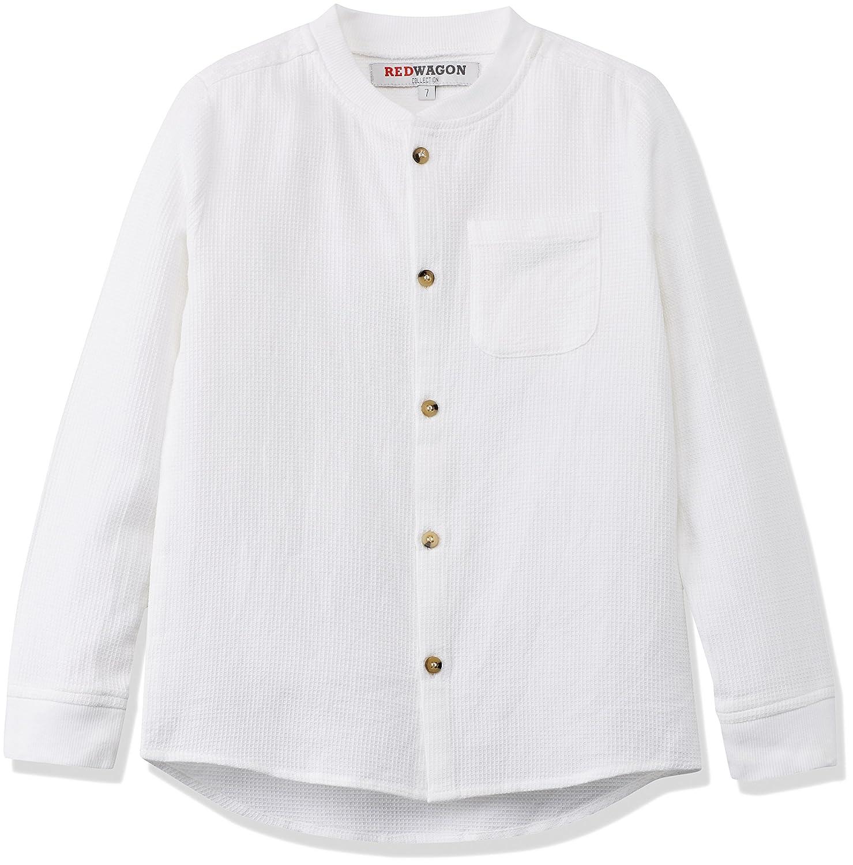 RED WAGON Boy's Waffle Texture Grandad Shirt 7547