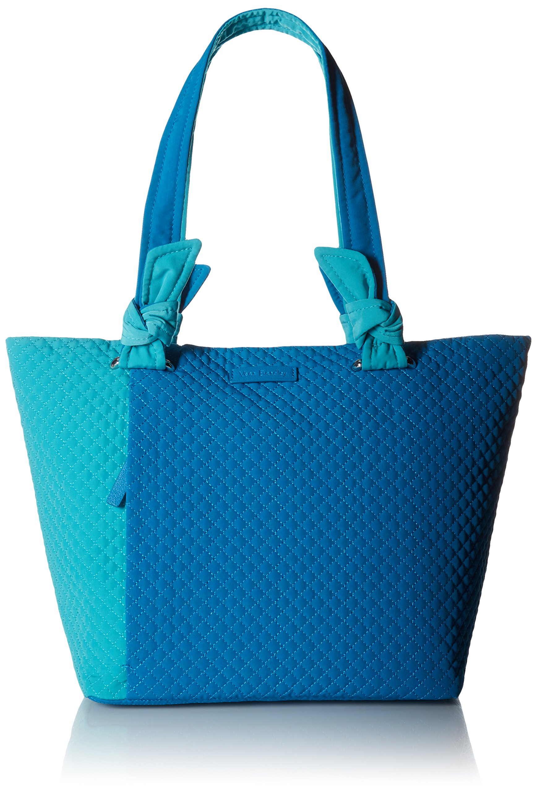 Vera Bradley Hadley East West Tote, Microfiber, Bahama Bay and Turquoise Sea