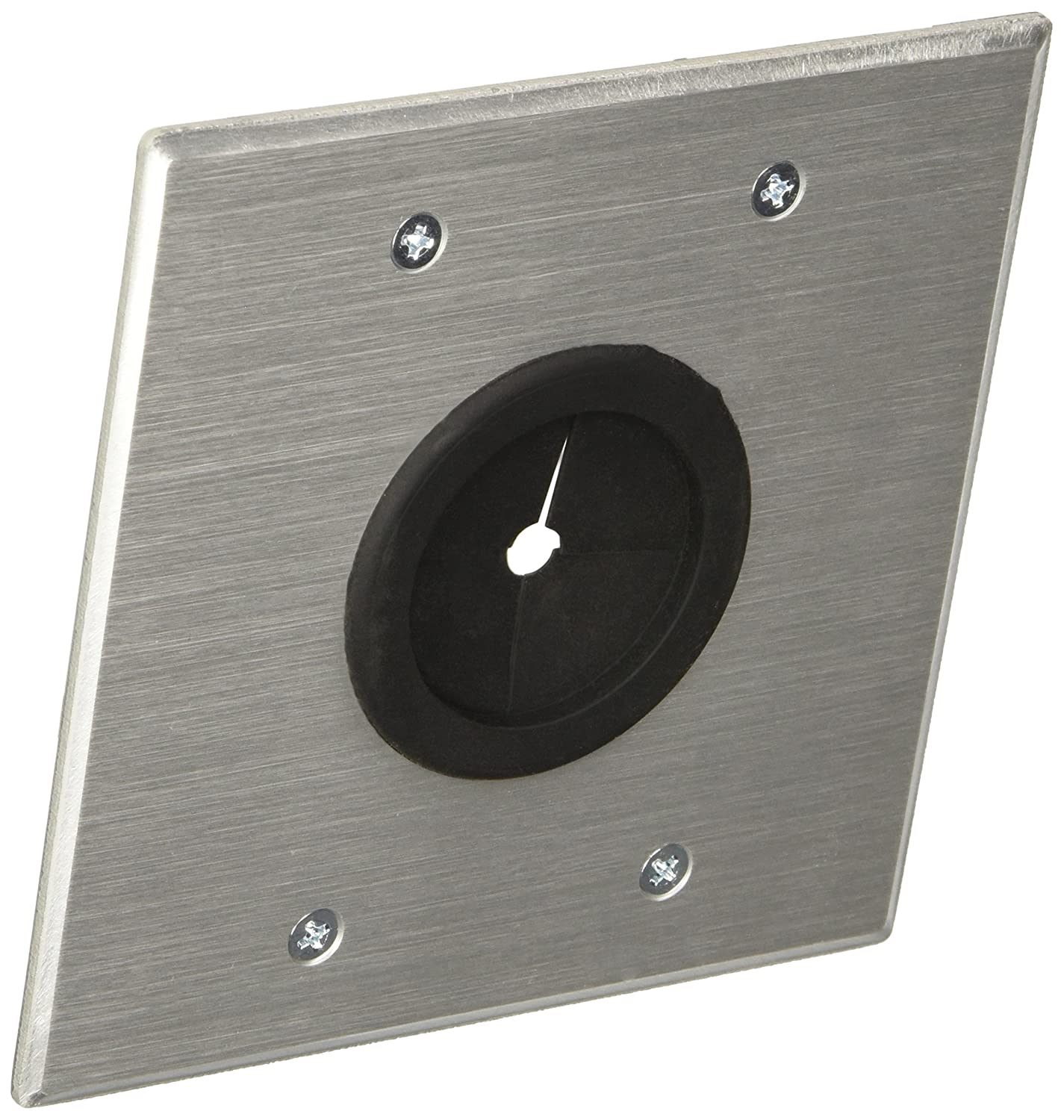 Amazon.com: C2G/Cables to Go 40546 Double Gang Grommet Wall Plate ...