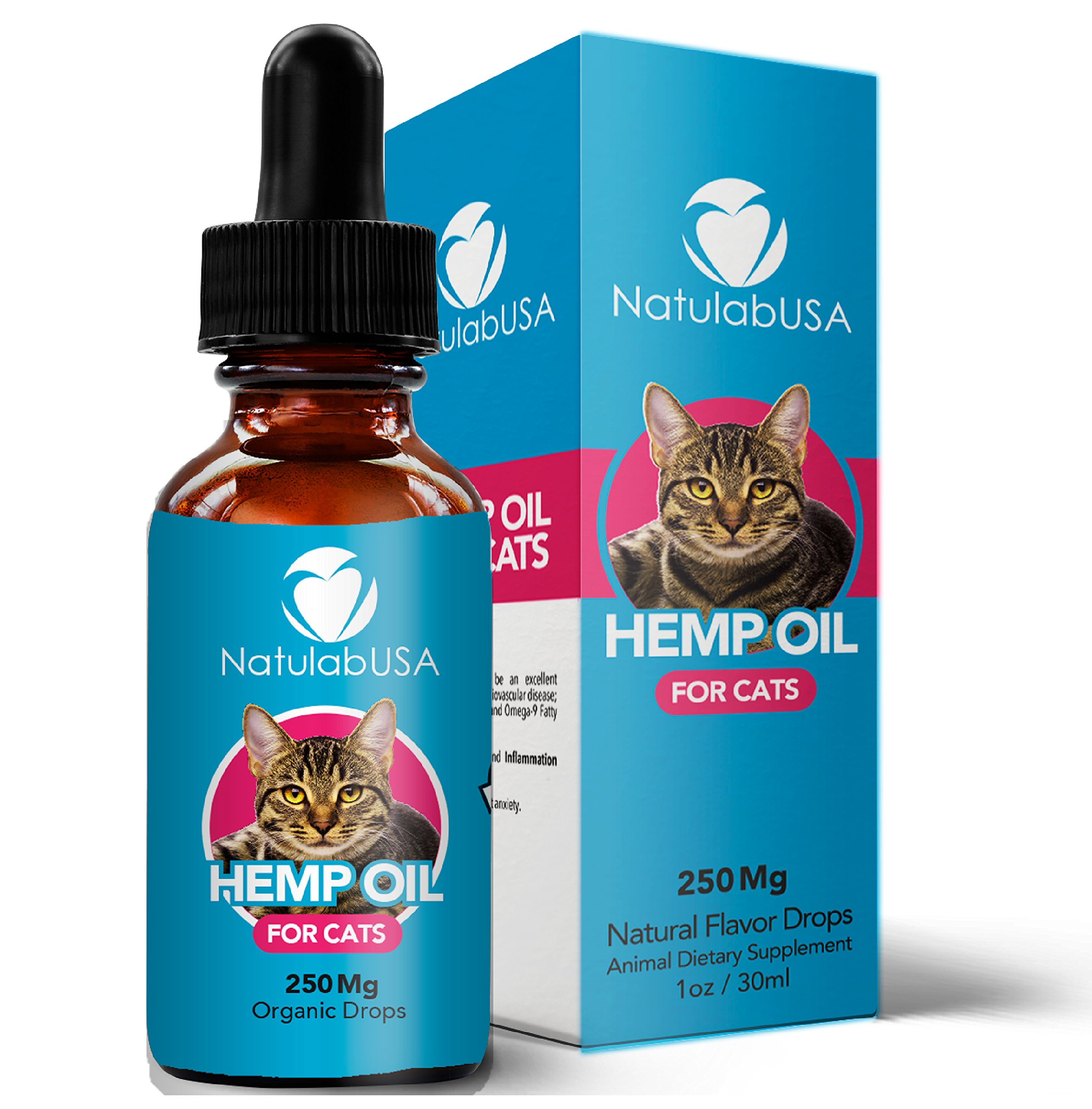 Hemp Oil For Pets & Cats – Fast Results - Pet Anxiety & Stress Relief Serum - Pet Arthritis & Joint Health – SIMPLY APPLY TO FOOD - Separation Anxiety Relief - Pure Organic Hemp Seed Oil - NatulabUSA