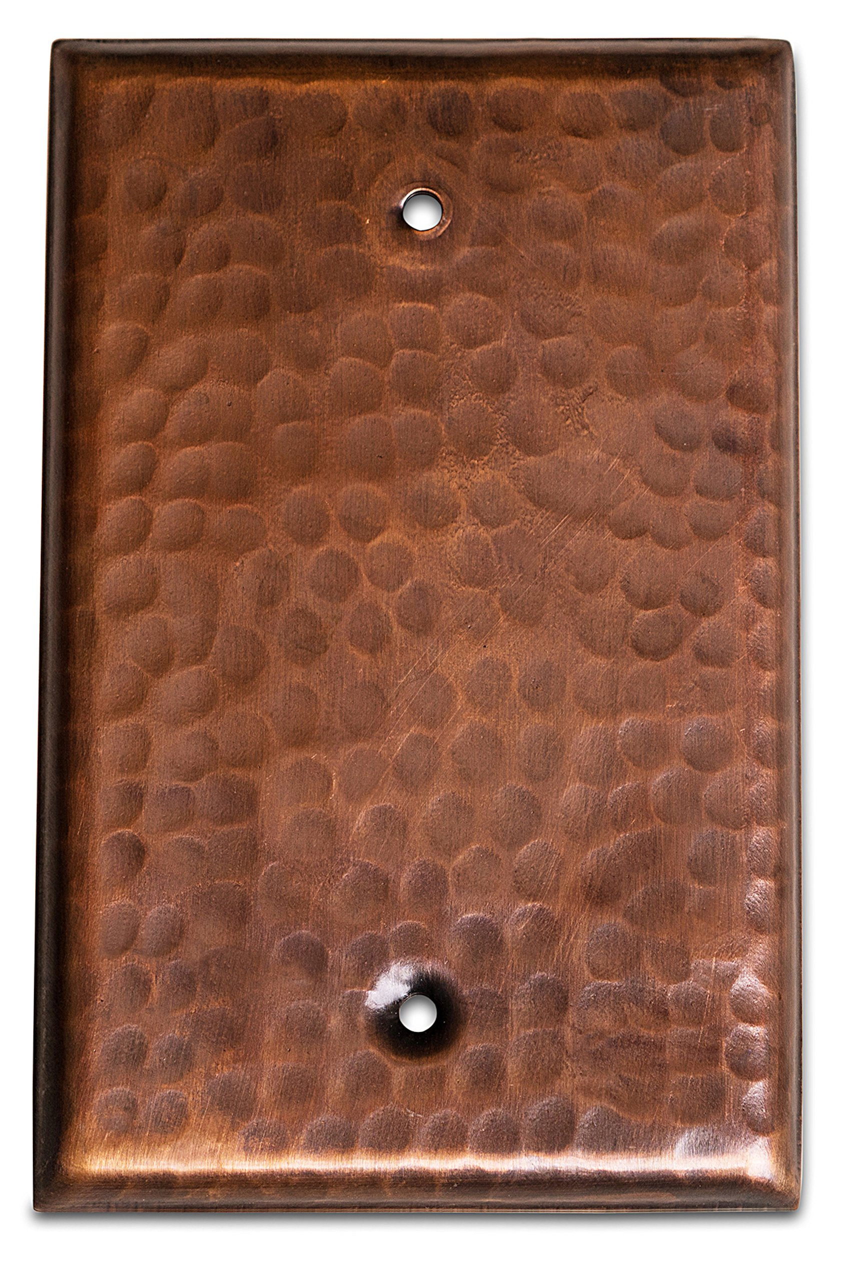 Monarch Pure Copper Hammered Blank Wall Plate/Switch Plate