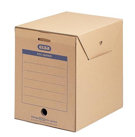 Elba 83527 - Caja de almacenamiento para archivadores y otros papeles (6 unidades),