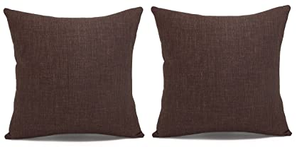 Fabulous Acanva Dips 2P Decorative Throw Pillows 24 X 24 Brown Gmtry Best Dining Table And Chair Ideas Images Gmtryco