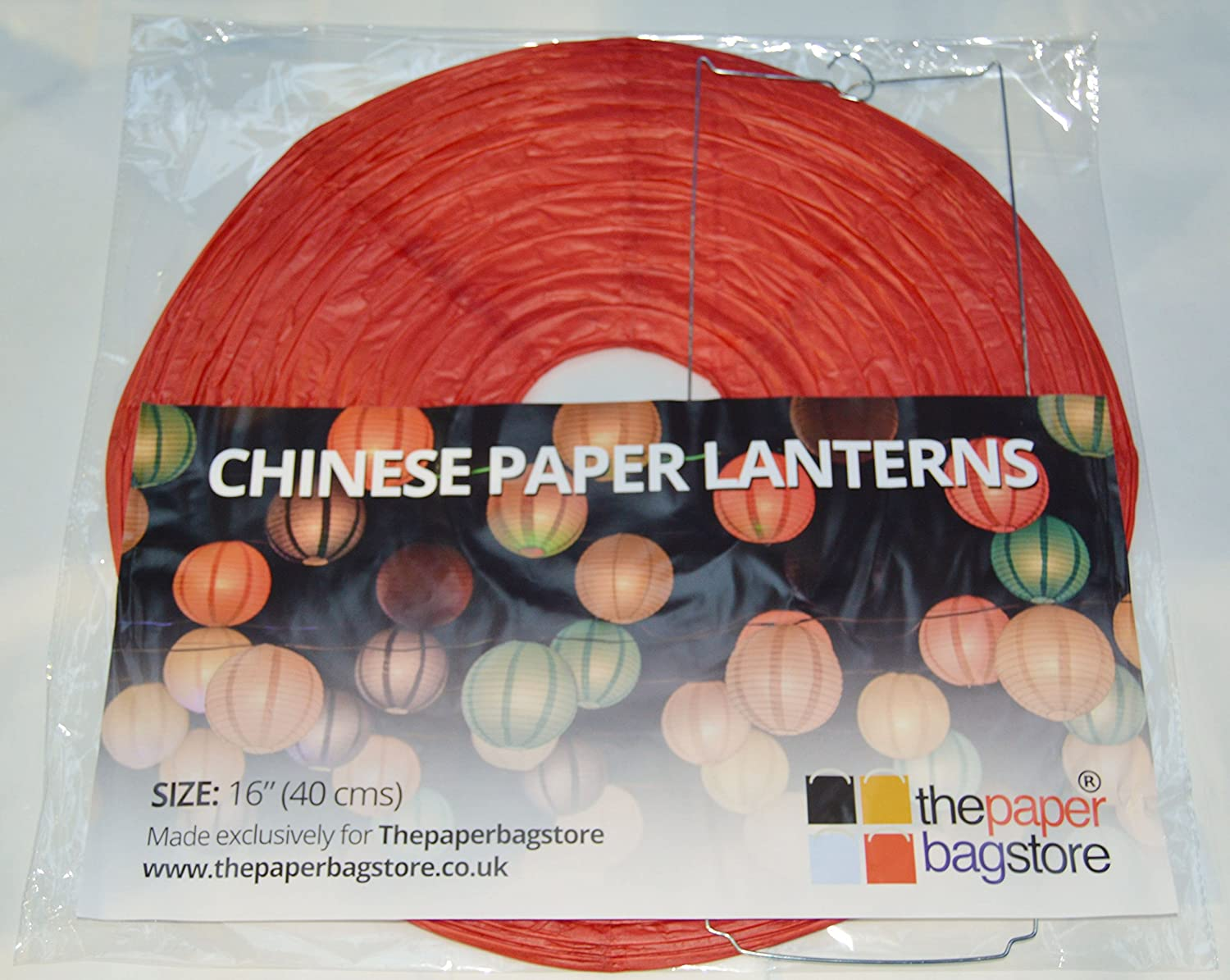 Thepaperbagstore 12 Yellow Chinese Paper Lanterns for Events or Lampshades 20.32cm Small 8