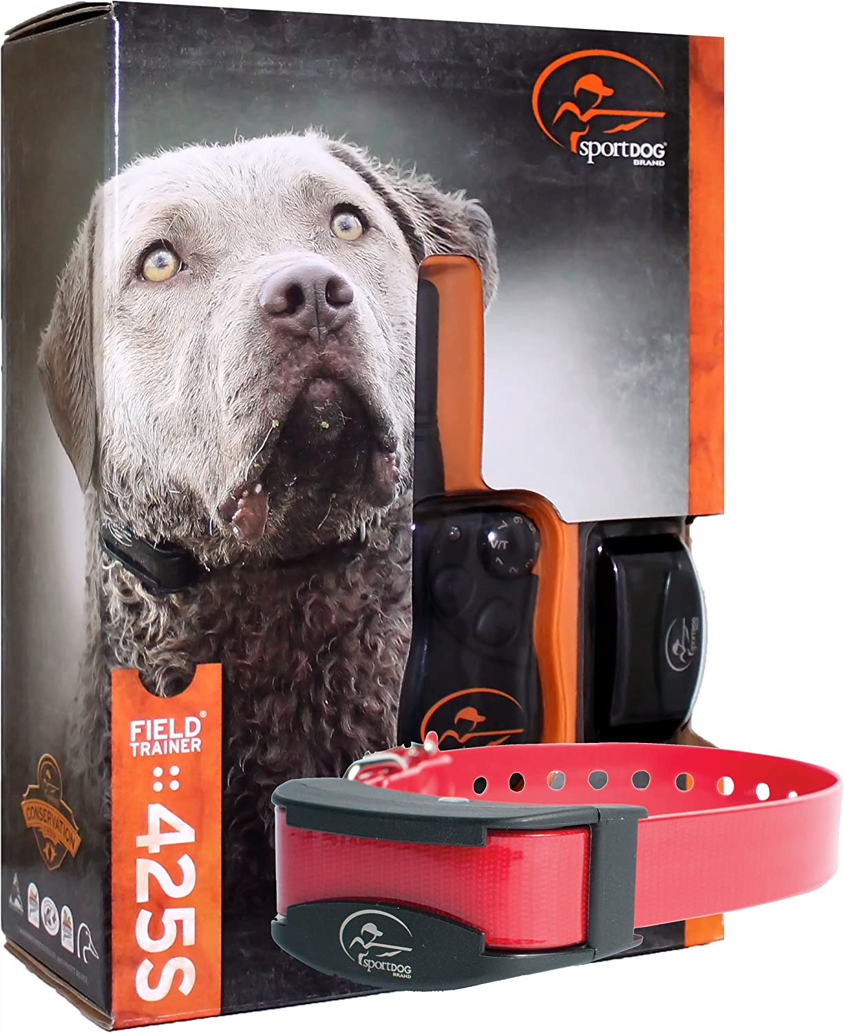 Bundle of 2 items – SportDog – SD-425S – SDR-AS – Two Dog Field Trainer for Large or Stubborn Dog Waterproof Shock Training Collar