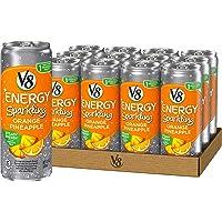 V8 +Energy 12-Pack Orange Pineapple Sparkling Juice Drink with Green Tea