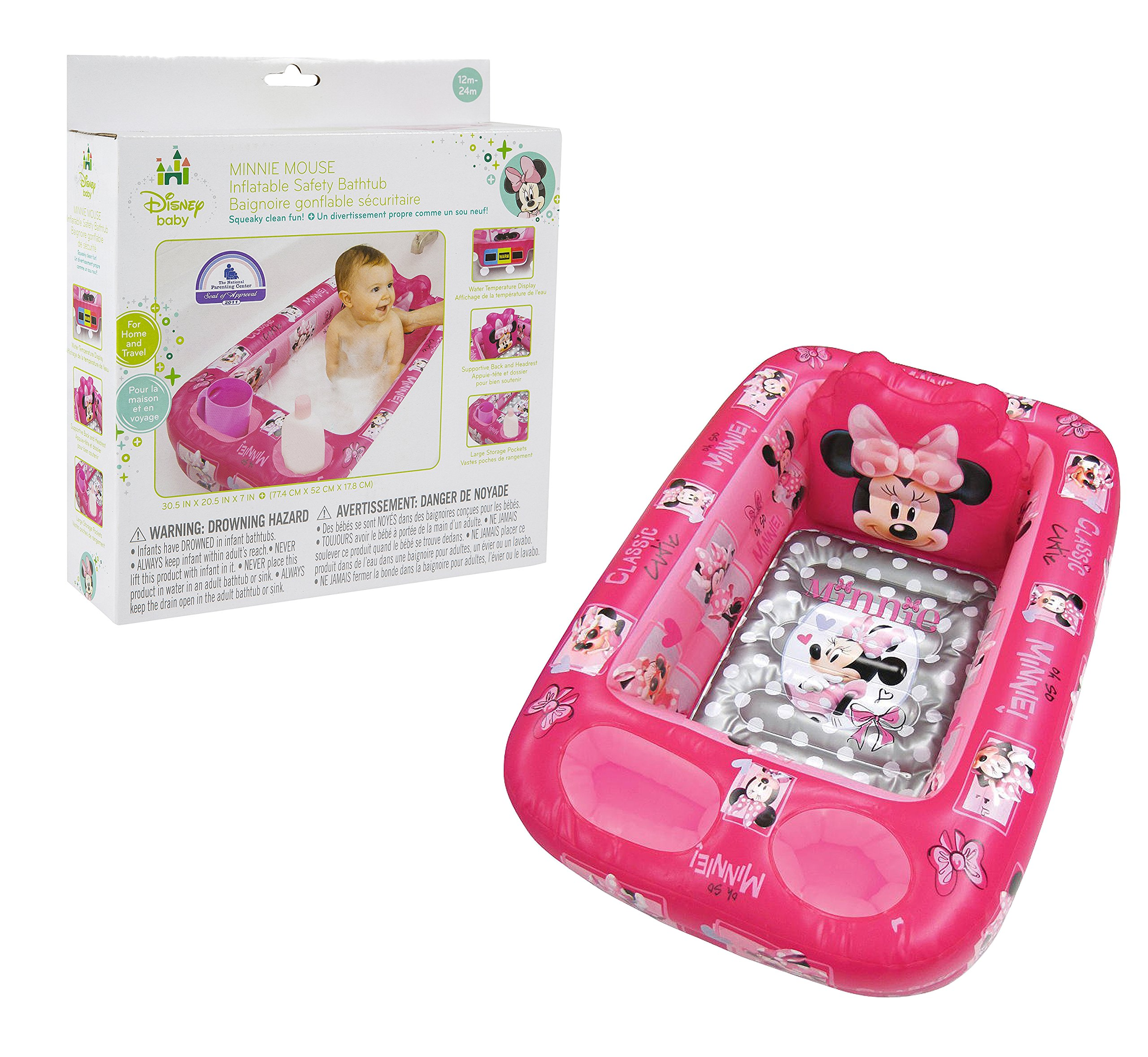 Disney Minnie Mouse Inflatable Safety Bathtub Pink | eBay