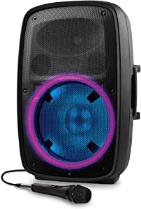 ION Total Glow 2 – 400W PA System/Bluetooth Lit Woofer, Speaker Stand and Microphone with Cable Included (TOTALPAGLOW2XCA)