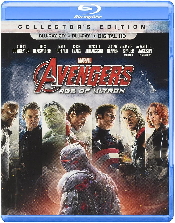 Marvel's Avengers: Age of Ultron [3D Blu-ray + Blu-ray + Digital HD] (Bilingual) Robert Downey Jr. Chris Evans Chris Hemsworth Mark Ruffalo