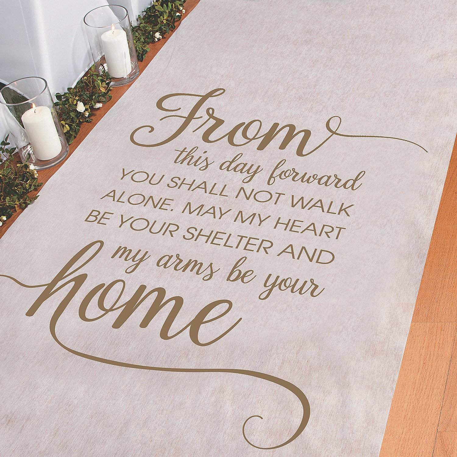 From This Day Forward Aisle Runner