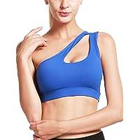 RUNNING GIRL One Shoulder Sports Bra Workout Yoga Bra Sexy Cute Medium Support