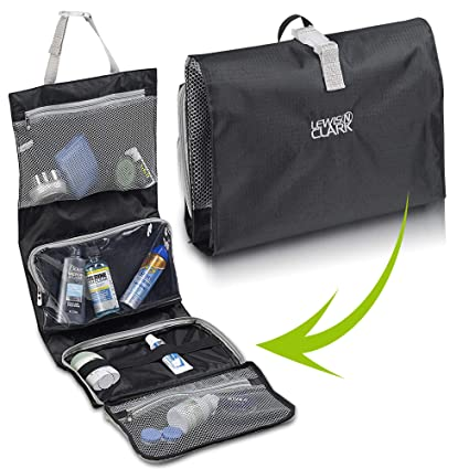 749c1d4681ab Lewis N Clark Hanging Toiletry Bag and Makeup Bag for Travel Accessories