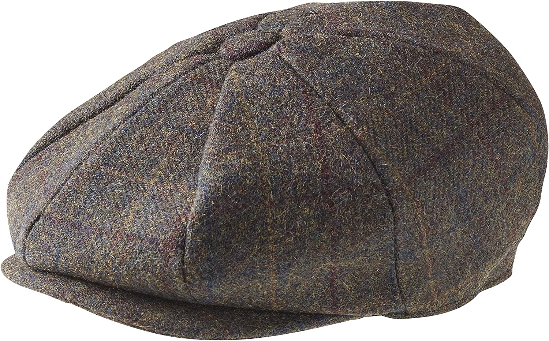 "in 100/% lana di tweed Peaky Blinders berretto a 8/spicchi piatto in stile /""Newsboy/"""