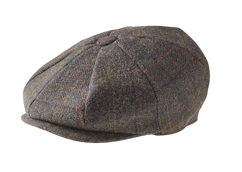 Peaky Blinders 8 Piece 'Newsboy' Style Flat Cap -100% Wool Fabric Variations