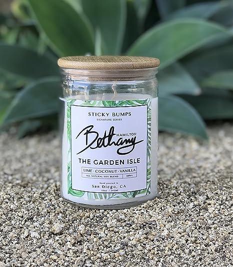 Bethany Hamilton firma vela: la isla jardín – cal, coco, vainilla: Amazon.es: Hogar