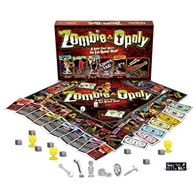 Zombie-Opoly Board Game: LatefortheSky: Toys & Games