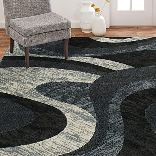 Home Dynamix Catalina Huron Area Rug 3 3 x5 2 , Abstract Gray