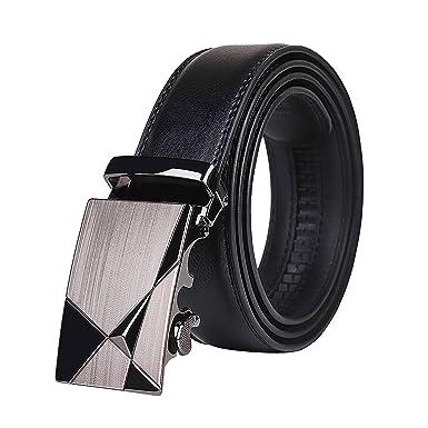 881c0bac4432d2 Ledergürtel Herren Gürtel Automatik Schnalle Männer Ratsche Gürtel Breite  für Anzug Hose Kleidung Jeans