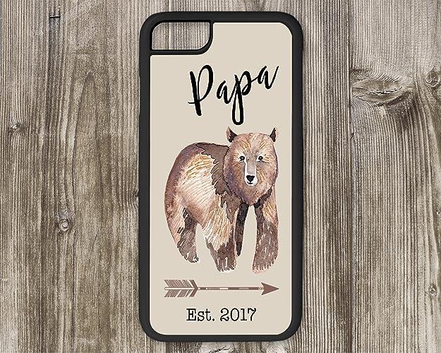 0361ad5b7d Amazon.com  Papa Bear with Boho Arrow Phone Case Optional Custom  Established Date iPhone 6 7 8 Plus  Handmade
