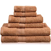 Superior 6 Piece Collection Rayon from Bamboo and Cotton Soft/Absorbent Towels Set