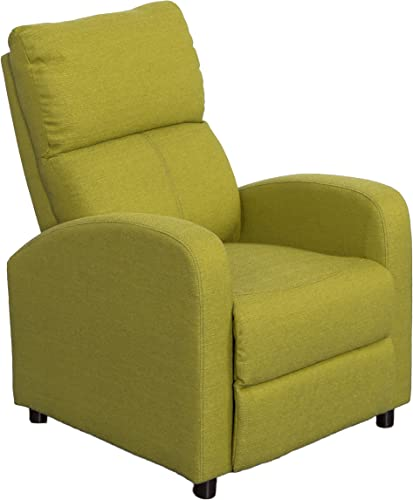 CorLiving Moor Linen Fabric Recliner Green