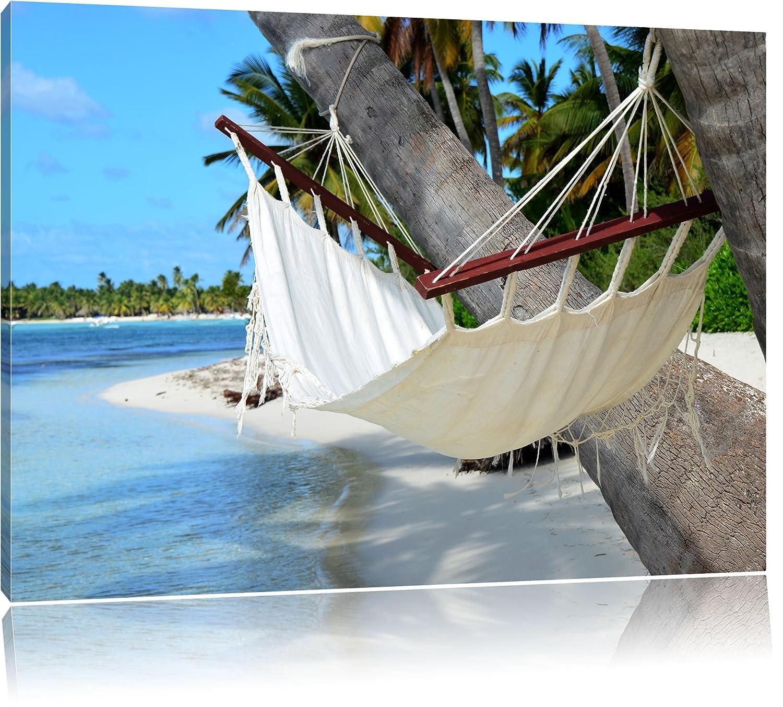 Malediven Palme Strand Sonne Bild auf Leinwand, XXL riesige Bilder ...