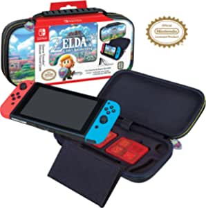 Officially Licensed Nintendo Switch The Legend of Zelda: Links Awakening Carrying Case with Adjustable Viewing Stand and Game Card Storage