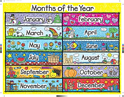 Common Worksheets » Months Of The Year Chart - Preschool and ...