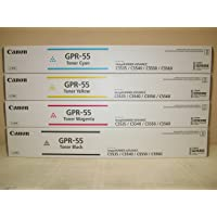 GENUINE CANON GPR-55 BLACK CYAN MAGENTA YELLOW TONER SET for use in the Canon imageRUNNER ADVANCE C5535i / C5540i / C5550i and C5560i