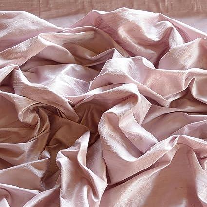 2750a491c86e9 Tea Rose Pink Dupioni Silk, 100% Silk Fabric, By The Yard, 44