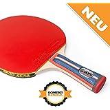 Tischtennisschläger konkav für Tischtennis Profis und Hobbyspieler von GEWO / 1.8mm ITTF Lion Belag
