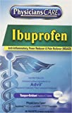 PhysiciansCare Ibuprofen Pain Reliever Medication (Compare to Advil), 200mg, 50 Packets of Two Tablets