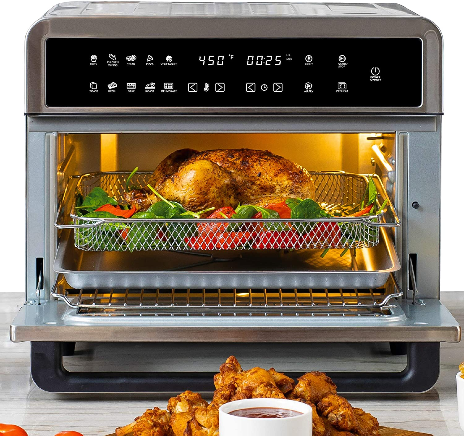 Aria Air Fryers ATO-898 Toaster Oven Air Fryer