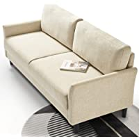 Zinus Sofa Jackie 3 Seater Couch Fabric Lounge Chair - Beige