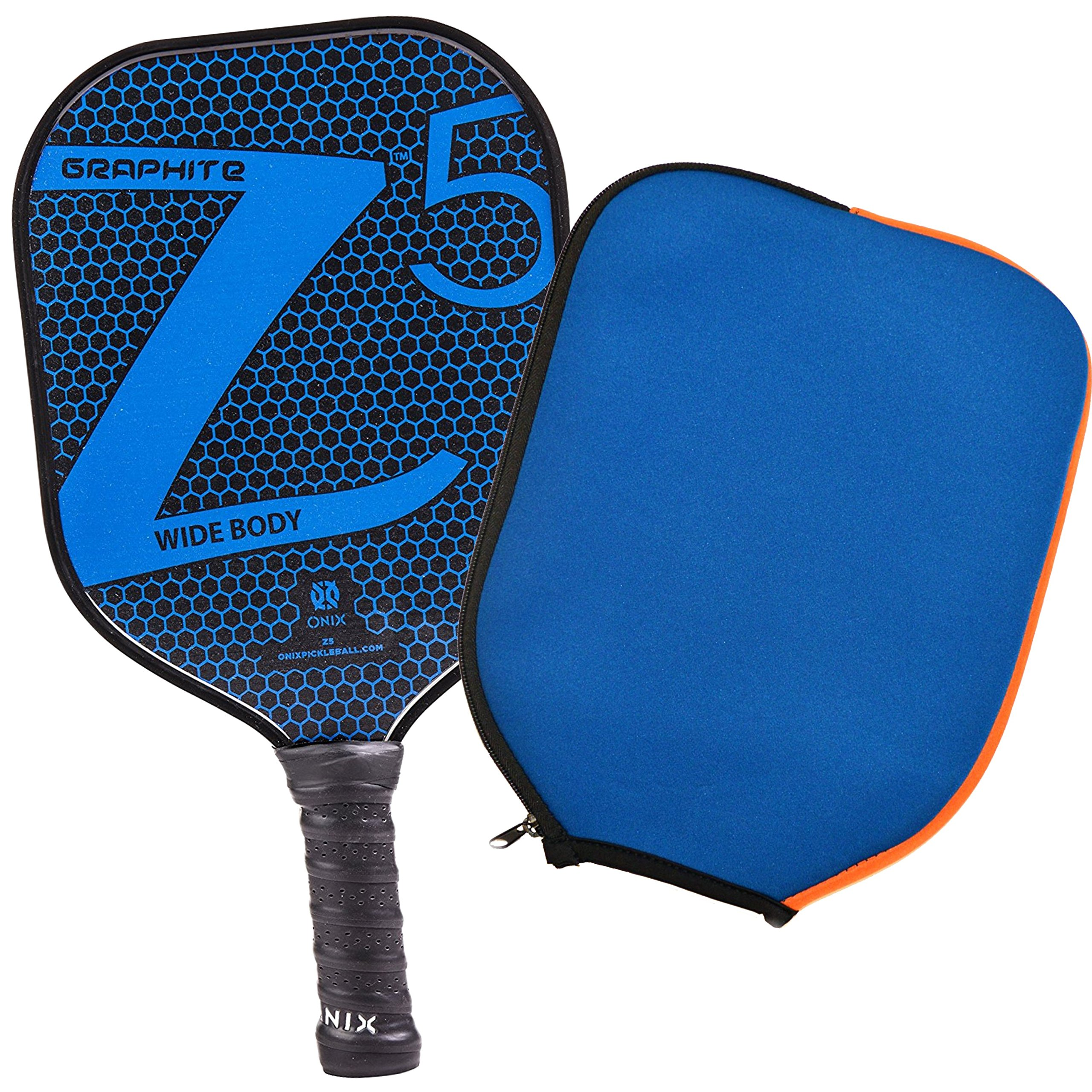 Onix Z5 Graphite Pickleball Paddle and Paddle Cover (Blue) || Gift Pack