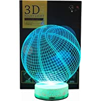 3D Illusion LED Night Lamp Basketball with build-in battery By AZALCO