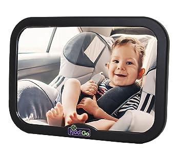 KiddiGo Baby Rear Facing Back Seat Car Mirror Extra Large Wide Convex