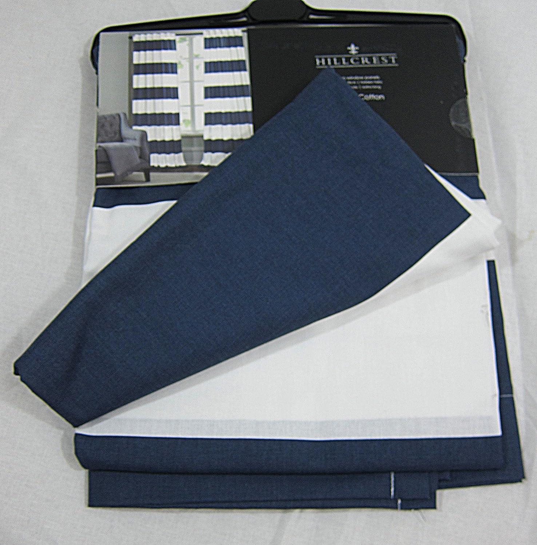 Amazon.com: Hillcrest Wide Stripes Curtains 2 Panels 52 X 96: Home U0026 Kitchen