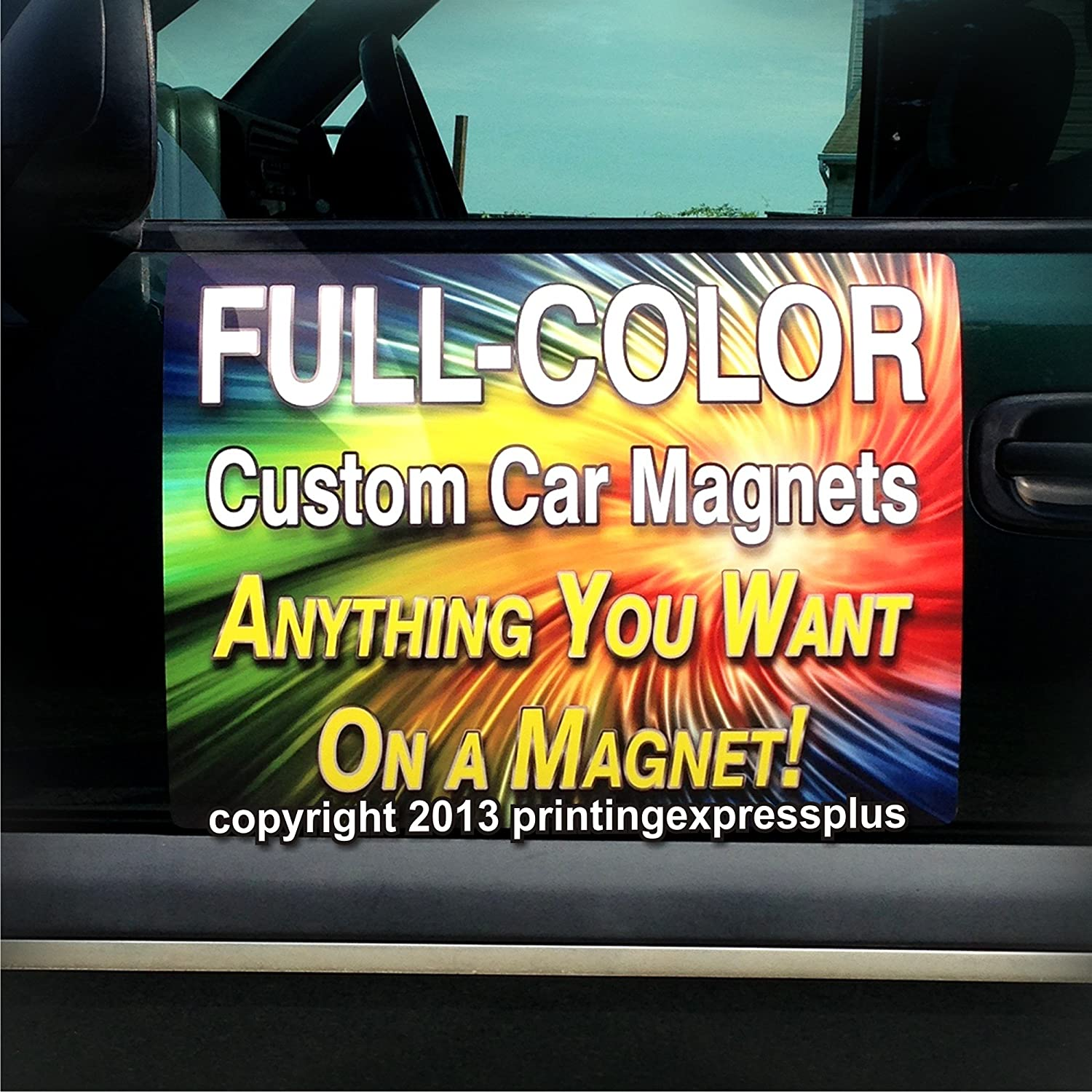 Amazon com 2 12x18 custom magnetic car signs magnetic auto truck signs free design included home kitchen