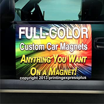 Printing Express Plus 2 12 X18 Custom Magnetic Car Signs Magnetic Auto Truck Signs Free Design