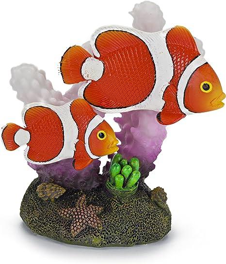2x Plastic Sea Animal Clownfish Figure Simulation Animal Aquarium Model Toy