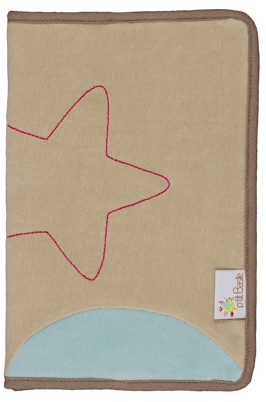 P 'tit Basile–Funda para cartilla de salud Mixta–17x 25cm tamaño estándar para el cuaderno de lactancia–terciopelo 100% algodón mandril de agricultura de orgánico–Collection Sirius y Cassiopée P' tit Basile Sirius et Cassiopée